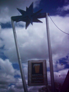 Signage in front of the Bristol Brewing Company