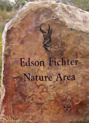 Marker at the entrance to Edson Fichter