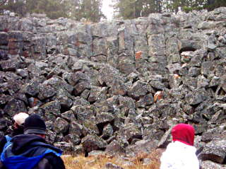 Columnar Basalt Formation: Sheepeater Cliffs, Yellowstone National Park