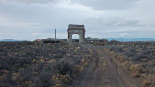 The ruins that once was the Metropolis, NV high school.